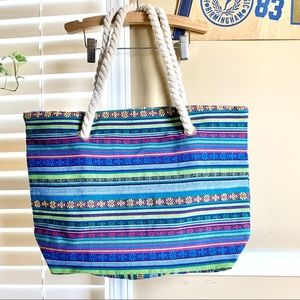 NWOT Lined Mexican Tribal Fresh Market Bag